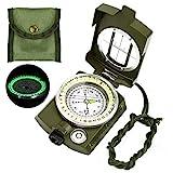 Etmury Kompass ,Militär Marschkompass, Professioneller Militär Navigation Kompass mit Fluoreszierendem Design ,Peilkompass Kompass , Perfekt für Camping Wandern und andere Outdoor-Ak