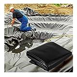 YJFENG Teichfolie Für Den Garten, Flexibel 0,5 Mm Teichfelle, HDPE Pools Undurchlässiger Film Für Fische Pflanze, Dach Auslaufsicher, Anpassbar (Color : Black, Size : 1x2m)