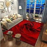 Moderner Stil Rose Flower Series Teppich Verdickte rutschfeste Und wasserdichte Fußmatte Und Bodenmatte Geeignet Für Wohnzimmer Schlafzimmer Eingang