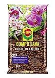 Compo SANA Orchideenerde mit 8 Wochen Dünger für alle Orchideenarten, Kultursubstrat aus Pinienrinde, 10 Liter