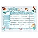 Papierdrachen Stundenplan DIN A4 Block - Motiv Ballerina - beschreibbar Schule oder Uni - Terminkalender und Wochenplan für Kinder