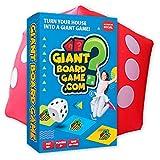 Riesiges Brettspiel für Kinder, Teenager und Familie, Outdoor-Party und Quiz-Spiel mit Herausforderungen und Fragen Inklusive riesigem Würfel