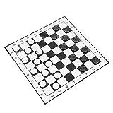 FOLOSAFENAR Weiß & Schwarz Checkers Set Tragbare Checkers Leichtgewicht, für Party Familienak