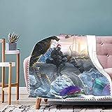 ARK Survival Evolved Fleecedecke, leicht, superweich, gemütlich für Schlafzimmer, Couch, Heimdekoration, gemütlich, flauschig, für alle Jahreszeiten, 101,6 x 76,2 cm