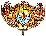 Wtbew-u Deckenleuchte, Badezimmerleuchte Stil Deckenleuchten, Buntglasschatten Deckenleuchte für Schlafzimmer Balkon Aisle Hall Restaurantkunst, a (Color : A)