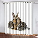 YUNSW 3D-Digitaldruckvorhänge, Vorhänge Für Schattierungen, Wärmeisolierung Und Geräuschreduzierung, Geeignet Für Wohn- Und Schlafzimmer, Mit Perforationen (Total Width) 183x(Height) 160cm