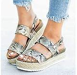 FAYHRH Damen Frühjahr/Sommer Sandalen,Sandalen für Damen Sommer, dickbesohlte Damenschuhe groß, High Heels-A_41