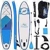 Fixget SUP Board, Stand Up Paddle Board Aufblasbar Stand-Up Paddling Board Set 300x76x15cm 150kg Last (A)