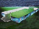 2er Set Kinder Mini Fußballtore mit Begrenzungsbanden, Ball, Ballpumpe mit Adapter, Steck-klick-Montage, Heringe inkl, ca. 426 x 36 x 120 cm