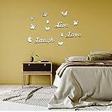 OOTSR 3D Schmetterling Wandaufkleber, Wanddeko Aufkleber Abziehbilder, Wandtattoo für Wohnzimmer Schlafzimmer Küche Bad Flur F