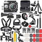 Neewer G1 Ultra HD 4K Action Kamera Set 170 Grad Weitwinkel WiFi Sports Cam 12MP 98ft Unterwasser wasserdichte Kamera High-Tech Sensor mit 50 in 1 Action-Kamera Zubehör Set