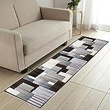 COMENO Küchenläufer Teppich Läufer Flu, Einfach zu säubern rutschfest Teppichläufer Meterware, für Wohnzimmer Flur Büro Küche- 120x300