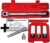 FAMEX 10886-3N-KS Drehmomentschlüssel 30-210 Nm mit Kalibrierschein - Sparset inkl. Spezial Einsätze Schoneinsätze für Radschrauben