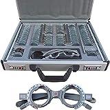 Optischer Testlinsen-Satz Des Augen-158 PC Stellte Aluminiumfall + Freien Versuchsrahmen Ein