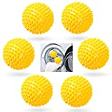 6 StückeTrockner Ball,Trocknerkugeln Duft,Trocknerbälle für Wäschetrockner,Kugeln für Flauschigere Wäsche,Wiederverwendbare Dryer Balls,Wäsche Wäschetrockner Trocknen Ball