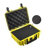 B&W Transportkoffer Outdoor Typ 1000 gelb mit Würfelschaum - wasserdicht nach IP67 Zertifizierung, staubdicht, bruchsicher und unverwüstlich