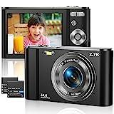 Vnieetsr Digitalkamera 2.7K Ultra HD Mini-Videokamera 44MP 2.8 Zoll LCD Wiederaufladbare Fotokamera mit 16X Digitalzoom-Kamera für Studenten/Kinder/Erwachsene/Anfäng