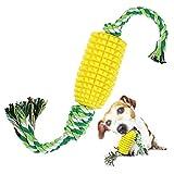 ARCH Hunde-Kauspielzeug Hundezahnbürste, Mais-Backenzähnen-Stick, Kaustab, Naturkautschuk, bissfeste Zahnbürste, Hundespielzeug mit S