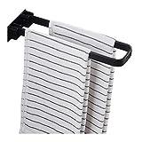 Xiaoli Badezimmer Handtuchhalter Handtuch Bar Punch-Free Badezimmer Handtuch Rack Toilettenhandtuchhalter Küche Lagerregal Falten Wand Hanging Handtuchschiene Handtuchstange (Color : Black)