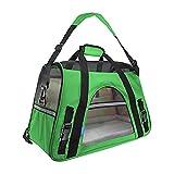 Faltbare Transportbox für Haustiere, Travel Weiche Seiten Tasche Haustier Träger für Hunde & Katzen Grün Small