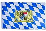 SCAMODA Bundes- und Länderflagge aus wetterfestem Material mit Metallösen (Bayern Löwe) 150x90