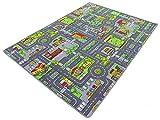 HEVO Stadt Mix Strassen Spielteppich | Kinderteppich 145x200