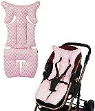 Klein Neu Kinderwagen Sitzauflage Universal Winter Verdicken Baby Sitzkissen Sitzverkleinerer Baumwolle Atmungsaktive Sportwagen Buggy Babyschale Autositze Cushion Liner Pad Zuhause ( Color : Pink )