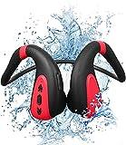 Easycosy Schwimm Kopfhörer Knochenschall Bluetooth Bone Conduction IPX8 Wasserdicht mit Mikrofon Open Ear Kabellos MP3 Musik Player 8G Speicher Staubdicht für Sport Radfahren Joggen