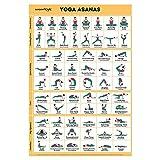 Sportaxis Yoga-Posen-Poster - 64 Yoga-Asanas für Ganzkörpertraining - laminiertes Poster für Training zu Hause mit farbigen Illustrationen - Englisch und Sanskrit-Namen - 45,7 x 68,6 cm (doppelseitig)