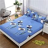 CYYyang Matratzenschoner - Atmungsaktiv Frottee Baumwolle Einfache Bettdecke aus Aloe-Baumwolle - 16_120 cm × 200 cm