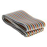 Fielect Regenbogendraht, flach, Regenbogenband, 50-polig, 1,27 mm, 100 cm lang, 1 Stück