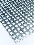 Lochblech Verzinkt QG10-15 Stahl Verzink 2,0 mm dick Zuschnitt individuell auf Maß NEU günstig (500 mm x 150 mm)