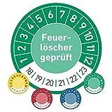 Feuerlöscher geprüft Prüftermin Wartungsplakette Prüfplakette Wartung 20mm Ø grün (100 Stück)