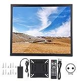 17-Zoll-HDMI-Monitor, 1280 x 1024 Ganzmetall-Industriemonitor Kapazitives Touch-Display mit HDMI/VGA/AV/BNC/USB-Eingang 100-240 V.(EU Plug)