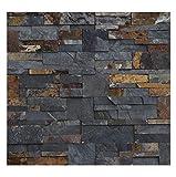 1 Muster W-009 Schiefer Wandverkleidung Naturstein Wandverblender Steinwand Wand Design Verblender Natural Stone Wall Cladding - Fliesen Lager Verkauf Stein-Mosaik Herne NRW