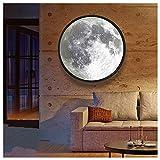 NENGGE Wandspiegel Rund Schwarz Badspiegel LED Schminkspiegel Wandmontage Deko Spiegel Wand Mond Phase Spiegel für Badzimmer Ankleidezimmer Schlaf- und Wohnzimmer, Frauen Geschenke,60CM