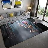 MENEFBS Flauschiger Wohnzimmer-Teppich, rutschfest, für Schlafzimmer, weich und gemütlich, zottelig, für Kinderzimmer, rutschfest, 160 x 200 cm