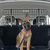 QualiTechna® Auto Hundegitter mit Sicherheitsgurt - universal, verstellbar & extra stabil - Kofferraum Trenngitter für EIN sicheres Befördern deines Hundes inkl. Hundeleine zum Anschnallen