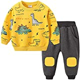 Samore Jungen Langarm T-Shirt + Camouflage Hosen, 2-teiliges Bekleidungssets für Kinder 1-4 Jahre Baby Jungen Mädchen Tops + Hosen Outfits Kinder Kleidung Set