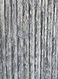 Moritz Flauschvorhang aus Chenille 56 x 185 cm hellgrau grau Türvorhang als Fliegenschutz Insektenschutz für Camping Wohnwagen