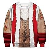TLLW Sweatshirt, langärmelig, Unisex, hässliches Weihnachtsmotiv, Rundhalsausschnitt, M-XXL Gr. XL, F-2