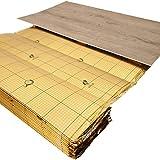 uficell® Vinyl Trittschalldämmung'VINOLOCK' mit Anti-Slip-Technologie [10 m² - 1 Rolle] - Stärke: 1,5 mm - Dichte ca. 100 kg/m³ - Druckstabilität: 200 kPa - Gutes Preisleistungsverhältnis
