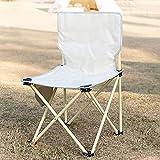 Yxx@ Faltstuhl Campingstuhl Bequemer Klappstuhl bis 130 kg Camping Stuhl mit robustem Gestell Ultraleichter Campingstuhl Anglerstuhl