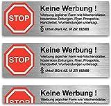 6x Aufkleber Sticker' keine Werbung' - Nie wieder Werbung dank § BGH Beschluss
