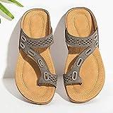 Syfinee Sommer Flip Flops, Damen Sandalen mit flachem Absatz und Zehenklammer