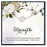 Grace of Pearl Isaiah 40 31 Glaube Halskette religiöser Schmuck Bibelvers Halskette für religiösen Schmuck Konfirmation Geschenke für Glauben Geschenke zur Erstkommunion Geschenk