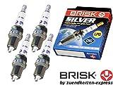 Brisk Power-Silver dr15ys-91462Zündkerzen Benzin LPG CNG Autogas, 4-teilig