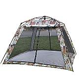 WH-IOE Leichtes Camping-Zelt Outdoor-Camping-Zelt Double-Layer-Tarnung Camping-Zelt Großer Platz 3-4 Personen Regenschutz Sonnenschutz und Moskitozelt Geeignet für Garten Camping Angeln