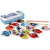 Anabei Holzspielzeug, Eisen-Boxen, magnetische Farbe, Doppelstab-Angelblöcke, Eltern-Kind-Puzzle, interaktive Spiele