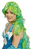 Langhaar Locken Perücke Taylor - Grün Türkis - Extra Lang zum Cosplay, Animé, Meerjungfrau Kostüm